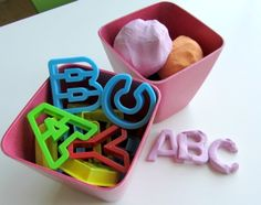 Source: NoTimeForFlashcards 3. Playdoh Alphabet This is a great activity for sensory development and maybe even some letter learning on the side. My daughter loves playdoh and thinking she knows how to count and say letters. Grab some playdoh (store bought or homemade) and some alphabet cookie cutters. Talk through the letters as they squishContinue Reading...