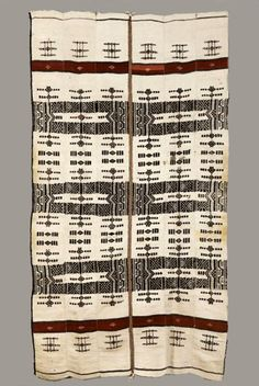 Africa   Blanket ~ Khasa ~ from the Fulani people from Mali   Wool; Strip woven; plain woven; supplementary weft; hand-sewn   ca. early to mid 20th century