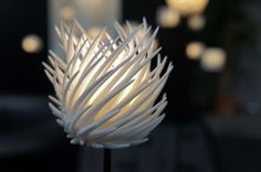 3D printed lamp, seen at the FabCon 3.D