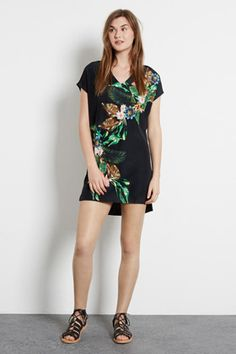 TROPICAL PLACEMENT PRINT TUNIC