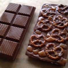 Homemade candy bars.