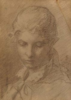 Helene Schjerfbeck Finnish) - Portrait of a Young Lady, pencil on paper Woman Drawing, Life Drawing, Figure Drawing, Painting & Drawing, Drawing Women, Helene Schjerfbeck, Unique Drawings, Art Drawings, Silverpoint