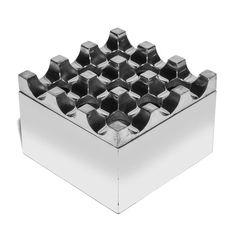 Ultima - Medium Aluminum Geometric Ashtray - MAN of the WORLD Online Destination for Men's Lifestyle - 1