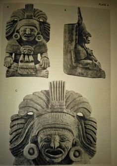 Urna funeraria zapoteca Zapotecan Antiquities S. Linné 1938 The Ethnographical Museum of Sweden, Stockholm, New Series Publication N° 4