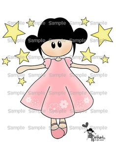Dancing stars Nina dolls 0342 clip art set images for by Withart