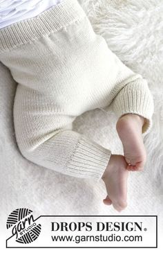 "Cozy and Cute - Neulotut DROPS housut ""Baby Merino"" -langasta. - Free pattern by DROPS Design"