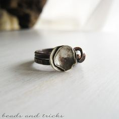 Un anello in rame e argento | Handmade by Beads and Tricks