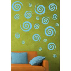 Found it at Wayfair - Swirly Swirls Set Wall Decal