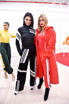 Kendall Jenner and Hailey Baldwin are Adidas Originals at NYFW