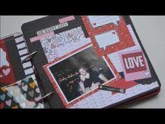 TENHO MIL MOTIVOS PARA SER FELIZ! Mini álbum em scrapbook com tema AMOR!