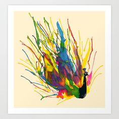 Colorful Peacock Art Print by Tobe Fonseca