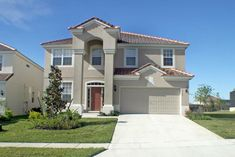 Large Florida Home. A Front Exterior of a Large Florida Home , Asphalt Paving Contractors, Windsor Hills Resort, Asphalt Repair, Asphalt Driveway, New Property, Florida Home, Dream Vacations, Exterior, Mansions
