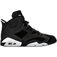 buy popular ad71c 846a5 Air Jordan Retro 6 Shoes In Black Gray (77 CAD) ❤ liked on Polyvore