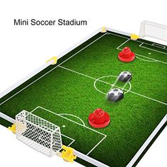 online retailer 39d00 7bb36 Table Air Power Hockey Soccer Set with 2 Gates Disk Hover Football Game  With Foam Bumpers