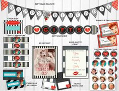 I Love Lucy Inspired Birthday Party by TheLilShopThatCould on Etsy, $20.00