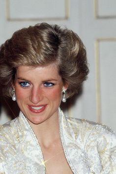November 7, 1988: Prince Charles and Princess Diana at a Banquet at the Palais…
