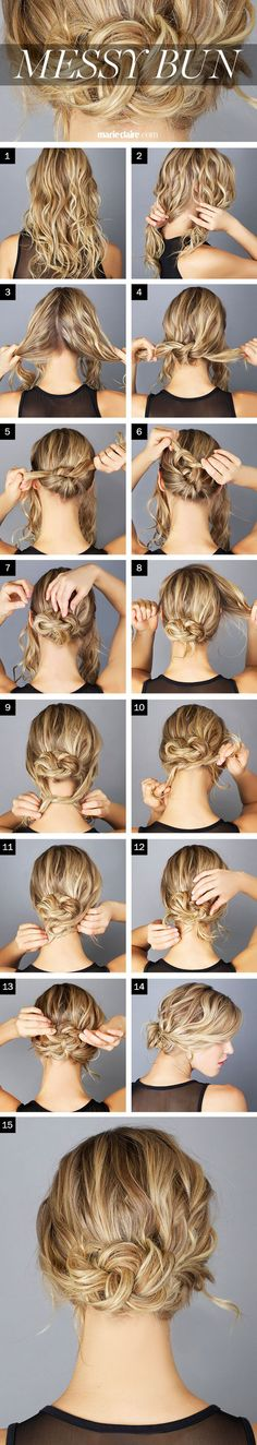 Messy Bun – Step by Step