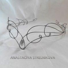 Elven Tiara. Steel Wire. Wire wrap