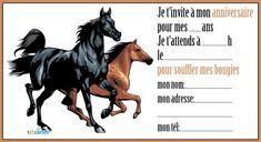 Invitation anniversaire Les deux chevaux