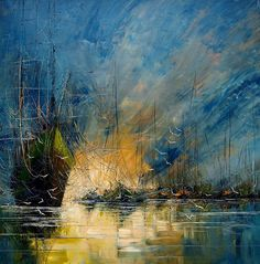 Melancholic Paintings of Seascapes and Vintage Ships  Polish artist Justyna Kopania creates stunning paintings representing seascapes and ald ships. She uses different tools to give different textures to the paint in order to give all the depth and the melancholic aspect to her work accentuated by the used colors.           #xemtvhay