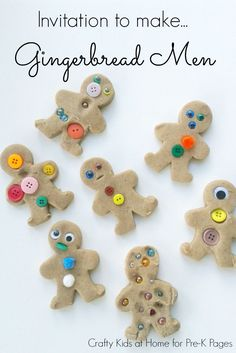 Gingerbread Man Play Dough Exploration for Preschool and Kindergarten. Perfect for a Gingerbread Man unit study or theme in your classroom! Preschool Christmas, Christmas Activities, Christmas Fun, Preschool Winter, Preschool Activities, Xmas, Kids Crafts, Playdough Activities, Create Invitations