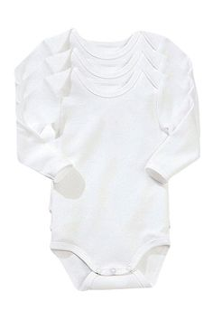Vertbaudet Body med lange ermer, for baby Baby Outfits Newborn, Baby Boy Outfits, Body Blanc, White Bodysuit, Unisex Baby Clothes, Long Sleeve Bodysuit, White Long Sleeve, Kids Fashion, Arm