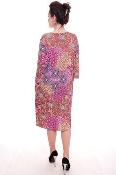 Платье А4995 Размеры: 50-60 Цена: 525 руб.  http://optom24.ru/plate-a4995/  #одежда #женщинам #платья #оптом24