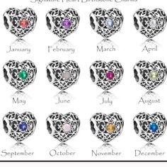 Pandora birthstone heart charm. YOU PICK THE MONTH New pandora birthstone heart charm. You pick your month Pandora Jewelry