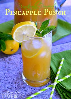 Practically Perfect Pineapple Punch | MomOnTimeout.com Punch or cocktail - it's your choice!