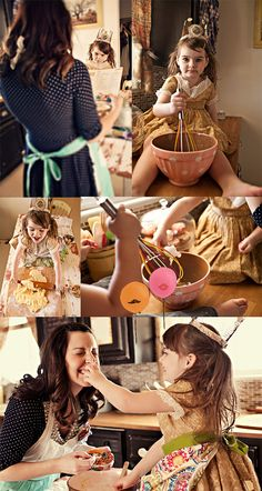baking in the kitchen with mom
