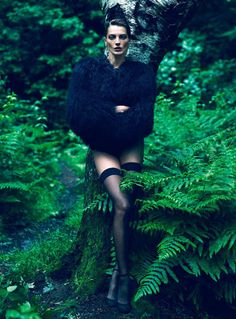 Forest Beauty Daria Werbowy, in Vogue Paris September 2012.
