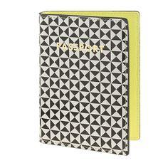 Pattern-block leather passport case - travel - Women's accessories - J.Crew