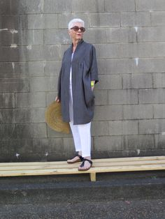 This Duster Coat offers a simple yet elegant silhouette with deep pockets and sleeves which look great worn rolled up...read more in Description