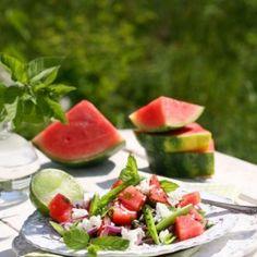 Fetaost- och melonsallad