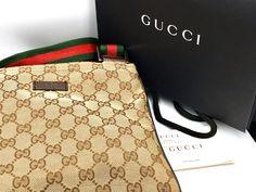 Gucci crossbody bag #gucci #fashion #guccibag #guccigang Gucci Crossbody Bag, Gucci Fashion, Gucci Handbags, Louis Vuitton Damier, Beige, Stuff To Buy, Collection, Women, Gucci Purses