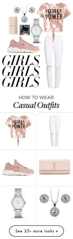 """National Women's Month ✨"" by laaniii on Polyvore featuring DL1961 Premium Denim, Sans Souci, BERRICLE, NIKE, Marc Jacobs, Yves Saint Laurent, womensHistoryMonth, pressforprogress and GirlPride"