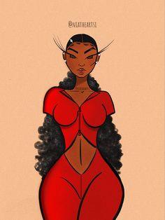 Black Art Painting, Black Artwork, Black Love Art, Black Girl Art, Girl Drawing Sketches, Cute Drawings, Drawings Of Black Girls, Arte Black, Art Et Design