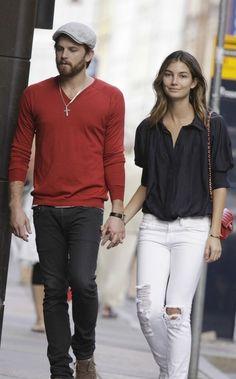 VS model, Lily Aldridge & her husband Caleb