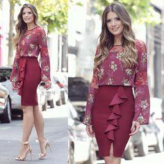 "7,677 Likes, 66 Comments - Blog Trend Alert (Ariane Cnovas) on Instagram: ""Saia de babado com blusa floral Look todo Seiki Nitrogen ♥️"""