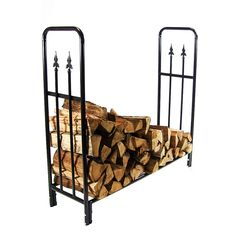 Sunnydaze Decorative Firewood Log Rack - Multiple Sizes