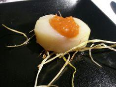 Entrantes: patata confitada con salsa brava en Menu #EatsAndTwitts Madrid