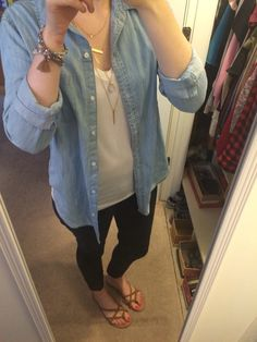 White top: Kohl's junior Mudd brand Denim top: Kohl's juniors  Jeans: Primark Sandals: Rue21 Necklace: Rue 21