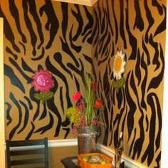 Zebra striped walls. O yes I did!