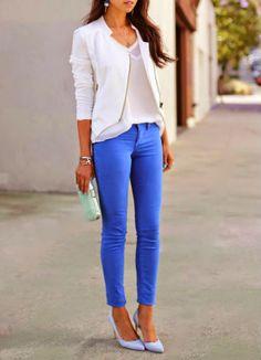 White & Royal Blue