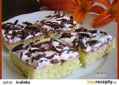 Cuketové řezy se zakysanou smetanou recept - TopRecepty.cz Pumpkin Squash, Zucchini, Cheesecake, Pudding, Cookies, Food, Tarts, Cheesecake Cake, Biscuits
