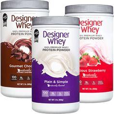 Designer Whey Protein, Whey Protein Powder, Packaging, Desserts, Food, Gourmet, Productivity, Tailgate Desserts, Essen