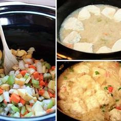 This is one of my standby camping meals (when in the trailer and can use my crockpot).  I love it because it is so simple and it seems to be the top request from my camping buddies.  It's easy to modify as well so add/remove ingredients as you feel fit, it comes out like a stew, so cut your veggies into the size of chunks you like best, I like mine pretty hearty.