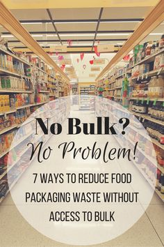 """The most common thing I hear when I talk about how I reduce my shopping waste is """"I don't have bulk options near me, I can't live zero waste."""" A lot of people don't. I …"""