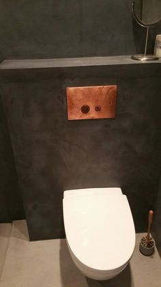 Microsement Oslo Toyen Medium Nero Pallido Concrete Design, Oslo, Toilet, Home Improvement, Bathrooms, Medium, Home, Flush Toilet, Bathroom