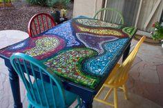 backyard table and chair set